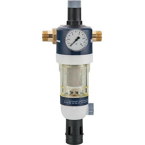"""Dispositif de filtrage d'eau sanitaire raccord + manometre inclus DN 25 (1"""") avec réducteur de pression"""