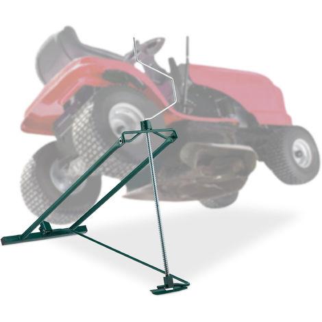 Dispositif de levage Lève tondeuse, 400 kg, dispositif d\'inclinaison continue de tondeuse, acier, vert