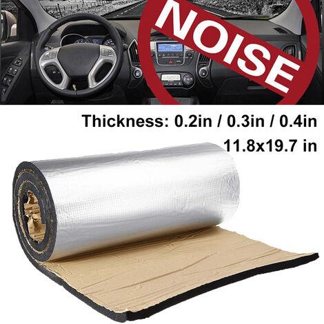 Dispositif d'isolation acoustique de voiture en coton insonorisant en papier d'aluminium (épaisseur 10 mm)