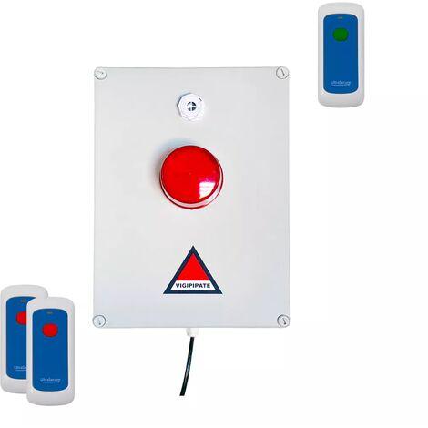 Dispositif PPMS alerte / alarme type incendie - modulable radio sans-fil longue distance