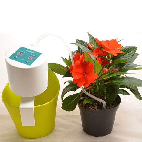 Dispositivo de riego automatico, bebederos de plantas, flor en maceta, auto riego