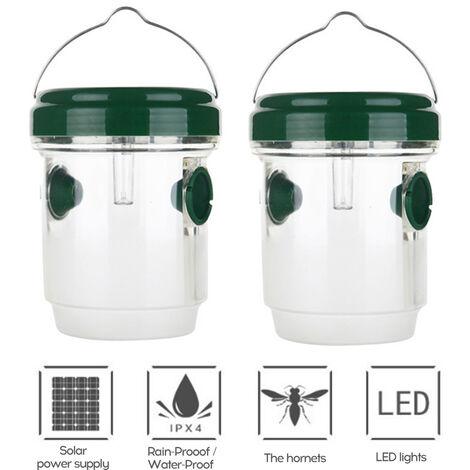 Dispositivo de trampas de avispas de insectos a prueba de agua a prueba de lluvia de energia solar de material ambiental portatil