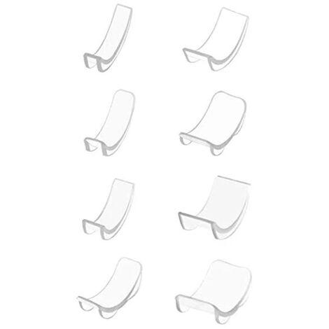 Dispositivo di regolazione della dimensione dell'anello invisibile Protezione del distanziatore della misura dell'anello 8 misure per anelli sciolti Portatile