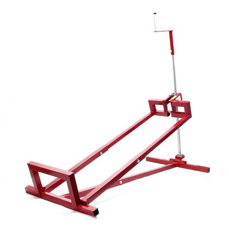 Dispositivo di sollevamento per trattorino tagliaerba infinitamente regolabile