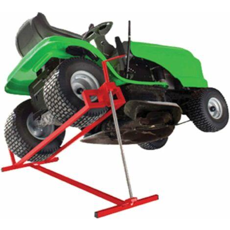 Dispositivo Elevador Tractores Plataforma Elevadora para Cortacésped de 400 KG Ajustable de Forma Continua