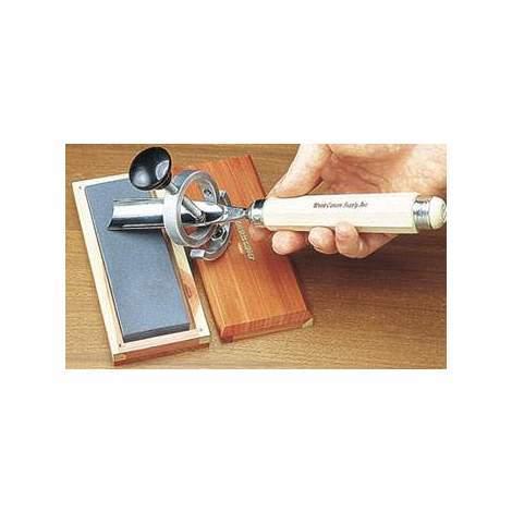 Dispositivo manual de afilado de gubias circulares y de esquina Mastercarver