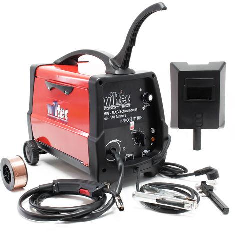 Dispositivo soldador MIG - MAG de 40-120 amperios, para hilo fundente 0,6-0,8mm con termointerruptor