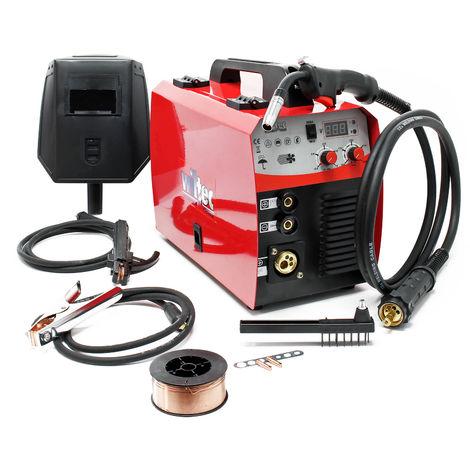 Dispositivo soldador MIG - MAG de 40-180 amperios, para hilo fundente 0,6-1,0mm con termointerruptor