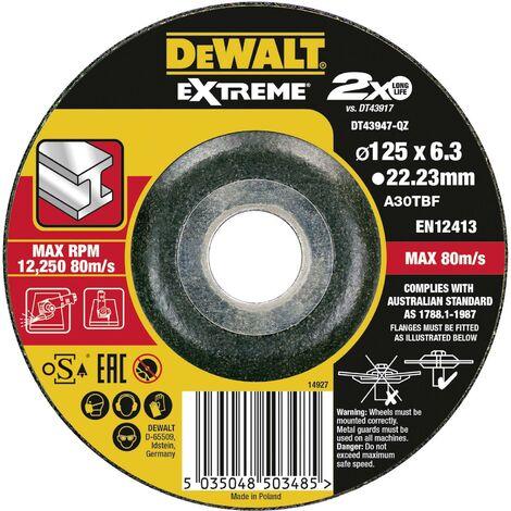 Disque à dégrossir métal déporté 125 x 6 mm R548771