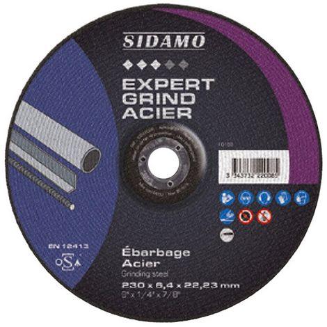 Disque à ébarber EXPERT GRIND ACIER D. 115 x 6,4 x Al. 22,23 mm - Acier - 10222005 - Sidamo - -