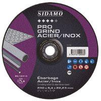 Disque à ébarber PRO GRIND ACIER INOX D. 76 x 4.8 x Al. 10 mm - Acier, Inox - 10222001 - Sidamo - -