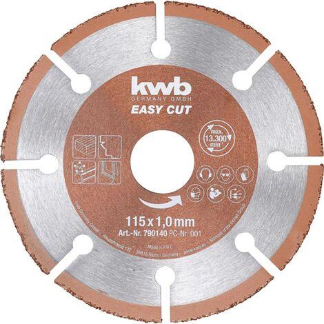 Disque à tronçonner 1 pièce kwb 790140 115 mm 22.23 mm 1 pc(s)