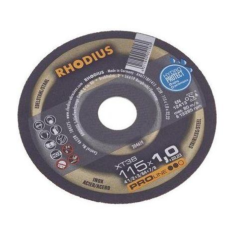 DISQUE À TRONÇONNER 115 MM RHODIUS FT38 TOP 115 X 1.0 X 22.2 MM 205601