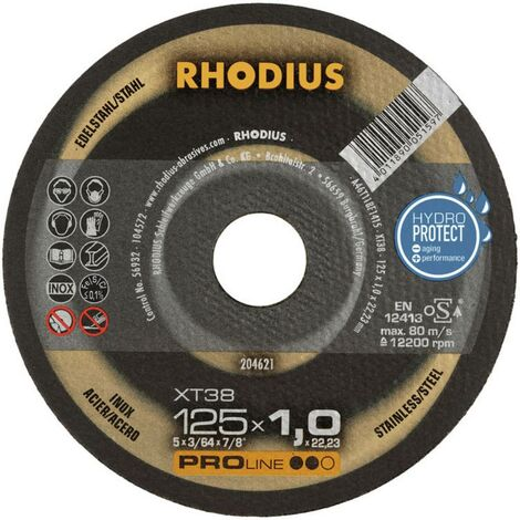 Disque à tronçonner 125 mm Rhodius FT38 TOP 125 X 1.0 X 22.2 mm C58397