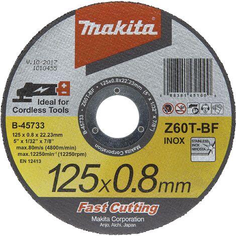 Disque à tronçonner 125 x 0,8 mm inox W066341