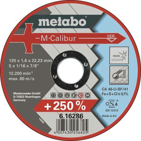 Disque à tronçonner 25 pièces Metabo M-Calibur 616286000 125 mm 22.23 mm 25 pc(s)