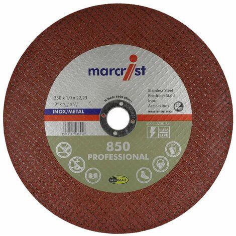 Disque à tronçonner 850 ultra fin pour métal et inox ø230 x 1,9 mm
