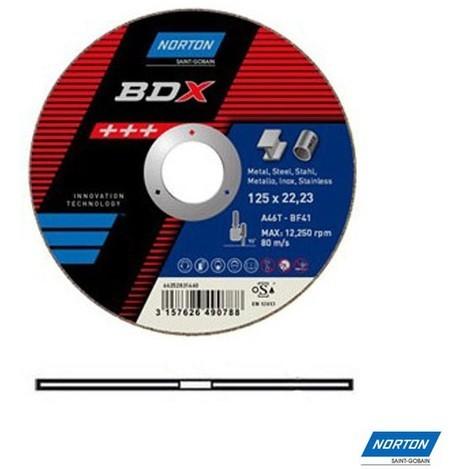 disque à tronçonner acier inox Norton BDX 125x1.6 mm