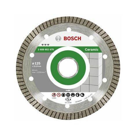 Disque à tronçonner BOSCH diamanté Best for Ceramic Extra-Clean Turbo Ø 230 Alésage 22,23 mm - 2608603597