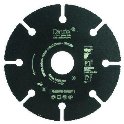 Disque à tronçonner carbure multimatériaux Ø125mm