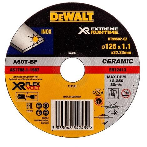 Disque à tronçonner DEWALT INOX Ø125mm - 1.1mm - DT99582