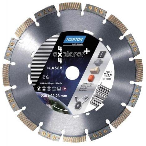 Disque à tronçonner diamant 4x4 Explorer Plus Ø 230 épaisseur 2,5 mm alésage 22,2 mm