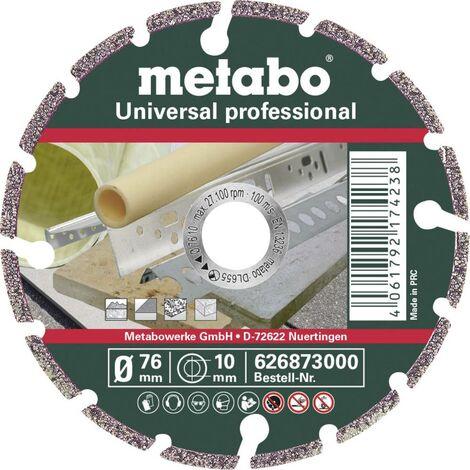 Disque à tronçonner diamanté 1 pièce Metabo UP Professional 626873000 76 mm 10 mm 1 pc(s)