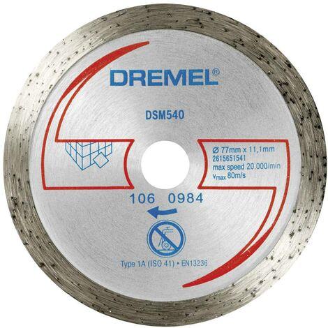 Disque à tronçonner diamanté Dremel DSM540 2615S540JB 77 mm 1 pc(s)