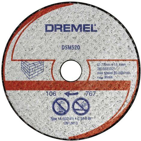 Disque à tronçonner Dremel DSM520 2615S520JB 77 mm 2 pc(s)