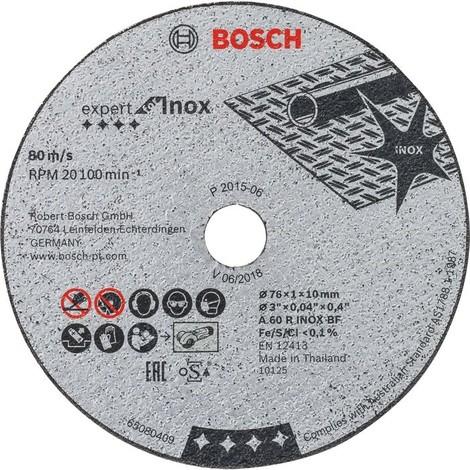 Disque à tronçonner Expert for Inox - Diamètre 76 mm - Bosch