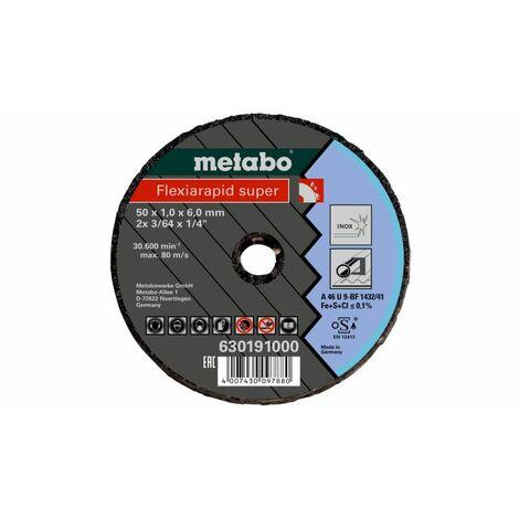 Disque à tronçonner Flexiarapid Super 76x1,0x6,0 inox METABO