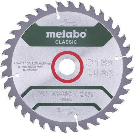 Disque à tronçonner Metabo 628027000 165 mm 20 mm 1 pc(s)