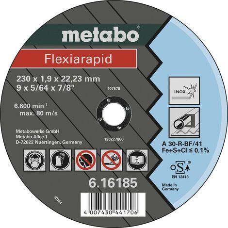 Disque à tronçonner Metabo Flexiarapid 616185000 230 mm 22.23 mm 25 pc(s)