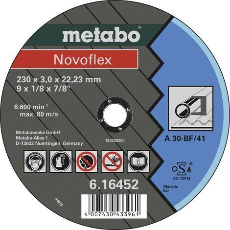 Disque à tronçonner Metabo Novoflex 616452000 230 mm 22.23 mm 25 pc(s)