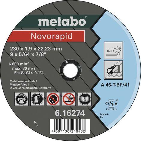 Disque à tronçonner Metabo Novorapid 616274000 230 mm 22.23 mm 25 pc(s)