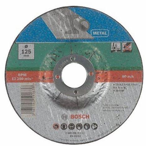 Disque a tronconner metal 125x2,5 pour Meuleuse Bosch, Meuleuse Ryobi, Meuleuse A.e.g