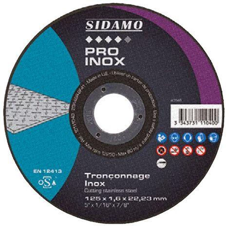 Disque à tronçonner PRO INOX D. 230 x 2 x Al. 22,23 mm - Inox - 10111041 - Sidamo - -