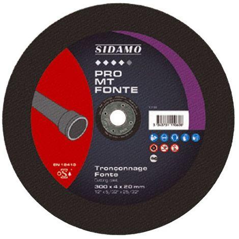Disque à tronçonner PRO MT FONTE D. 300 x 4 x Al. 25,4 mm - Fonte - 10111061 - Sidamo