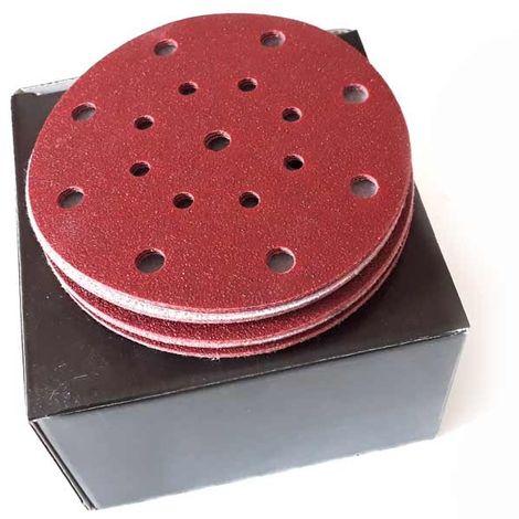 disque abrasif auto-agrippant pour Festool 17 trous 150 mm (boîte de 100)