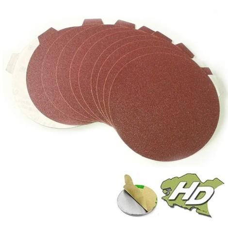 disque abrasif autocollant 150 mm sans trou (grain 40 à 400)