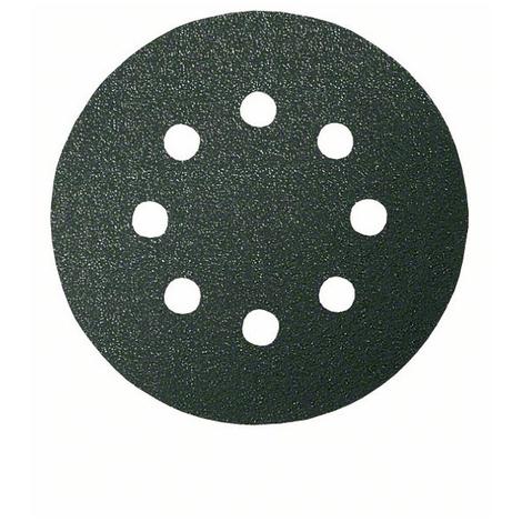 Disque abrasif F355 BOSCH - Ø 125 mm 8 trous - Grain 120 - 5 pièces - 2608605117