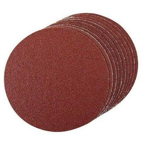 Disque abrasif velcro 125 mm, grain 80, le lot de 10, qualité pro Klingspor !