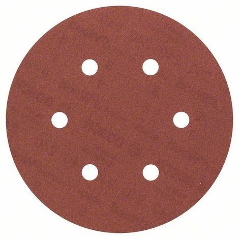 Disque abrasif velcro 6 trous 150 mm - Grain 60, le lot de 10 - Qualité Pro !