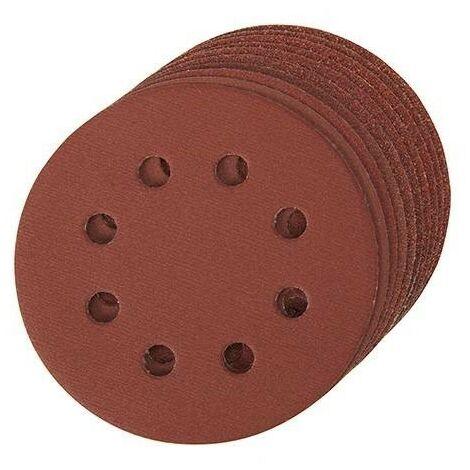 Disque abrasif velcro 8 trous 125 mm - Grain 60, le lot de 10, qualité pro Klingspor !
