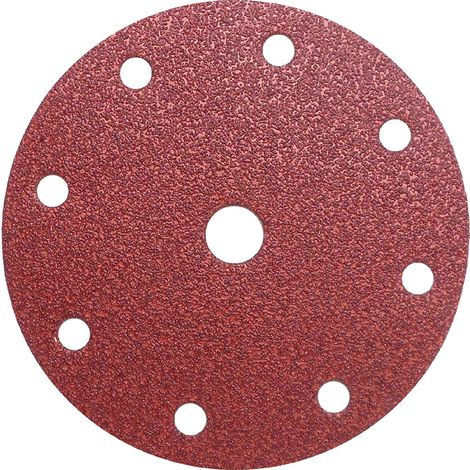 Disque abrasif velcro 8 trous 150 mm Grain 40 - Qualité Pro pour Festool (50 pièces) !