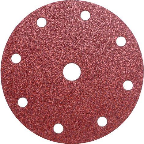 Disque abrasif velcro 8 trous 150 mm Grain 80 - Qualité Pro pour Festool (50 pièces) !