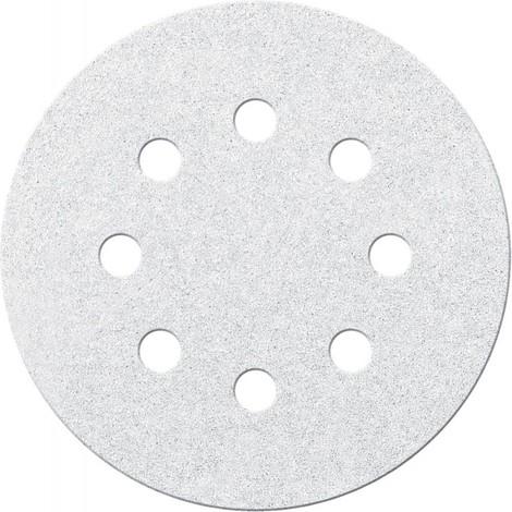Disque abrasif Velcro blanc 125 mm K 80,8 Loch FORTIS