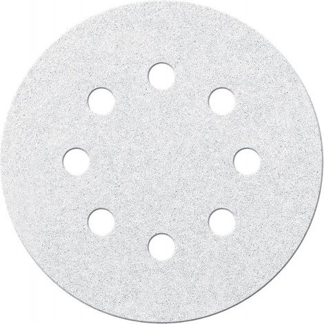 Disque abrasif Velcro blanc 125 mm K240,8 Loch FORTIS