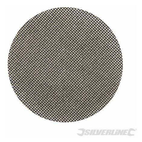 Disque abrasif velcro treillis 150 mm pour le plâtre - Grain 40, le lot de 10