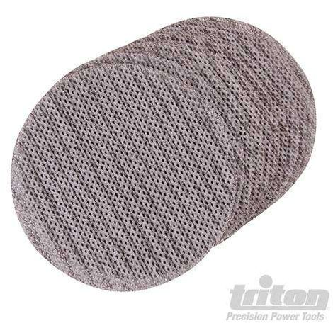 Disque abrasif velcro treillis 150 mm pour le plâtre Qualité Pro - Grain 80, le lot de 10